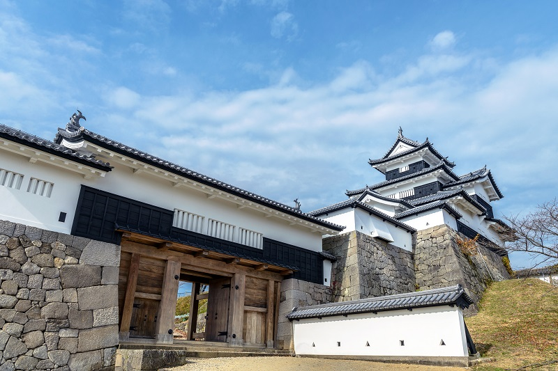 白河小峰城「三重櫓と前御門」