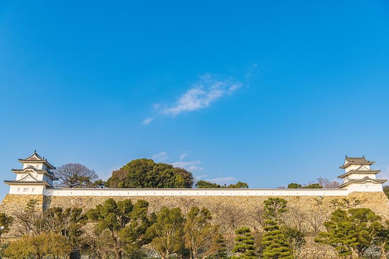 明石城「坤櫓と巽櫓」