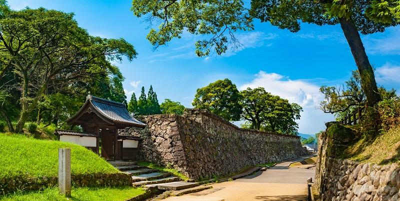 人吉城(堀合門と石垣)