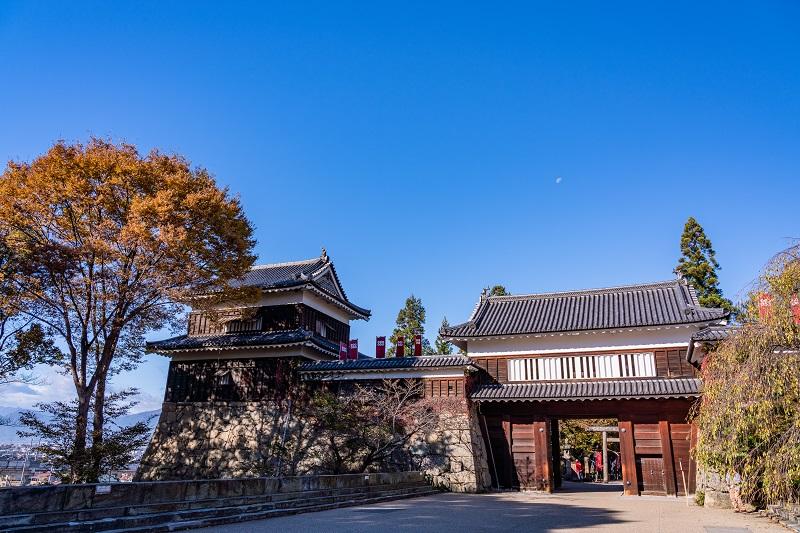 上田城「東虎口櫓門と南櫓」